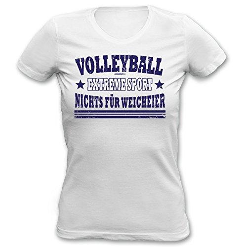 Damen T-Shirt mit Volleyball-Aufdruck - Volleyball - Extremsport - Nichts für Weicheier - Geschenk zu jedem Anlass (Volleyball Designs T-shirt)