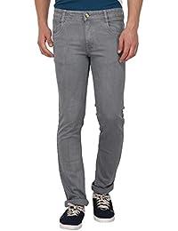 Par Excellence Men's Regular Fit Stretch Jeans (Ice Grey)