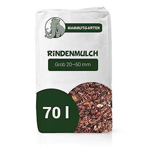 MammutGarten Rindenmulch Kiefer Rinde Garten Grob 20-60mm 70l Sack