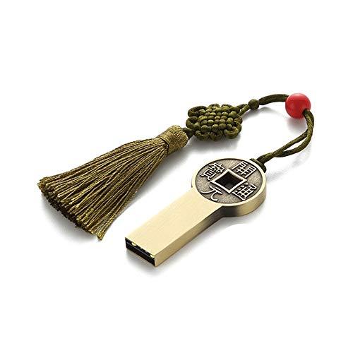 TDCQQ Kreative Chinesische Stil Limited Edition USB-Stick, Luxus Retro Persönlichkeit Hohe Qualität Business High Speed Metall U-Disk, Auto/Telefon/Computer (größe : 4G)