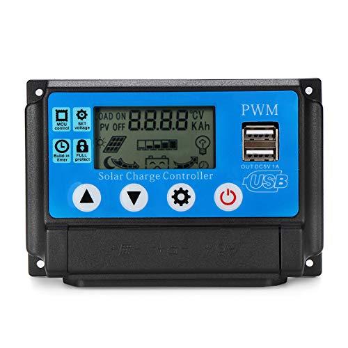 PWM 60A 12/24 V Auto Adapt LCD Solarladeregler Batterieregler Einstellbarer Parameter