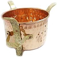 Cobre Latón Indian Food Warmer tradicional Sigdi Conveniente para el acero y cobre Tazón