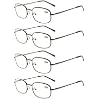 6edf21a9bd Eyekepper Metal Frame Spring Hinged Arms Reading Glasses Pack of 4 Pairs  +2.5