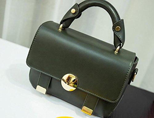 Borsa Moda YCMDM nuove donne di borsa a tracolla piccola borsa , dark (Bianco Bagagli Petto)