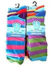 Fresh Feel Mens 6Pairs Stripes Design Colourful Socks UK 6-11 (EUR 39-45)