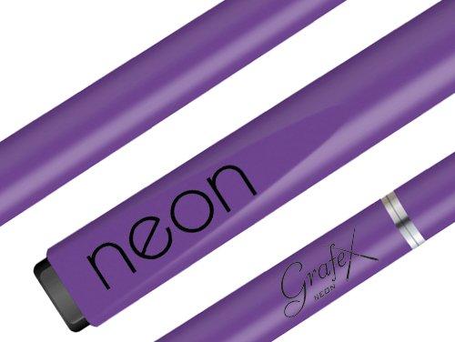 Neon - Nicht Holz - Nicht Hohl - Nicht Holzgelenk - Alles Reine Graphit + Fiberglas = Zusammengesetzt Cue Stick - Palko Grafex - Fast Unzerbrechlich - Billard Queues (Neon Lila, 13mm Cue Spitze Größe)