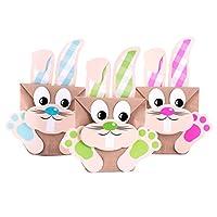 Con questi simpatici coniglietti potete sorprendere i vostri cari a Pasqua.I sacchetti sono abbastanza grande per contenere piccole, ma anche grandi sorprese.La procedura fai da te è molto semplice: è sufficiente tagliare i coniglietti, incol...