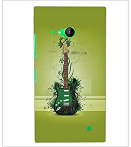 PrintDhaba Guitar D-5483 Back Case Cover for NOKIA LUMIA 730 (Multi-Coloured)