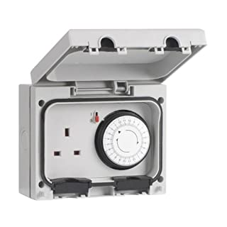SMJ Electrical E61MTB-N Single IP66 Socket with Mechanical Timer