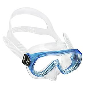 Cressi Kids' Piumetta Premium Diving/Snorkeling Mask, Transparent/Aquamarine, 3-7 Years