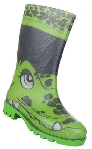 Kinderschuhe Stiefel Mädchen Gummi Regenstiefel Modell Nr2 Grün