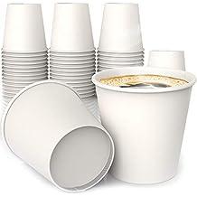 VASO Para Té y Café CARTON De Color Blanco ECOGREEN 4 oz X 100 unds Espresso