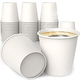 Bicchieri di carta da tè/caffè–100pezzi. Bicchieri di carta per bevande calde Coffee Beans Design
