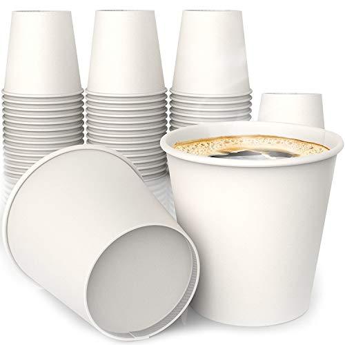 MGGI Trading 100 X 4oz Kaffeebecher 118ml Coffee-to-Go Papier Tassen Edles Design Pappbecher Papierbecher Für Espresso Green Espresso-tasse