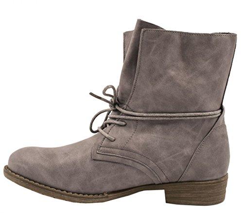 Elara Stivaletto da donna | biker Boots | Trendy effetto pelle | chunkyr ayan Grau 3