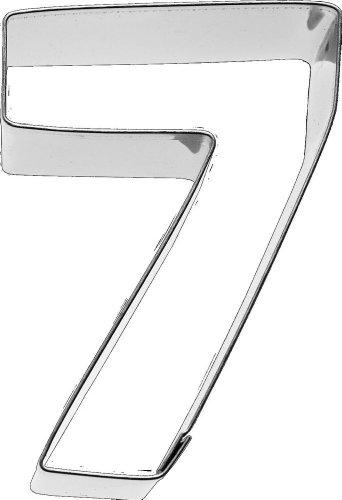 Birkmann Ausstechform Zahl 7, 6 cm, Edelstahl