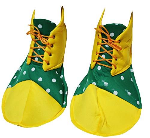 petitebelle gelb grün Polka Dots Soft Jumbo Clown Schuhe Erwachsene Kostüm (Jumbo Clown Kostüm)