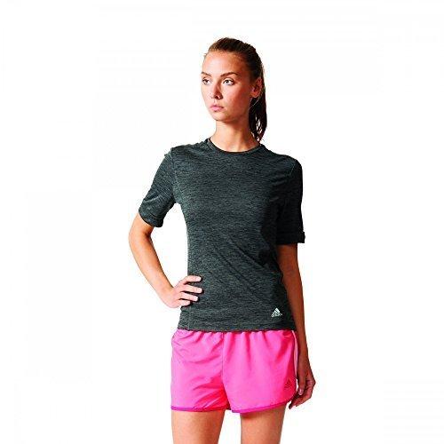 adidas Damen Supernova Shorts Sleeve Laufshirt Shirt, Schwarz, S -