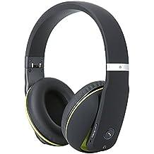 Whitelabel MusicStudio plegable auricular bluetooth / auricular inalámbrico / auricular Bluetooth, llamados libres de manos, 3,5 mm puerto de audio,compatible con la mayoría de teléfonos inteligentes (Negro y verde)