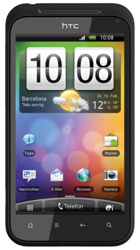 Preisvergleich Produktbild HTC Incredible S Smartphone (10.2cm (4 Zoll) Display,  Touchscreen,  8 Megapixel Kamera,  Android OS) muted black