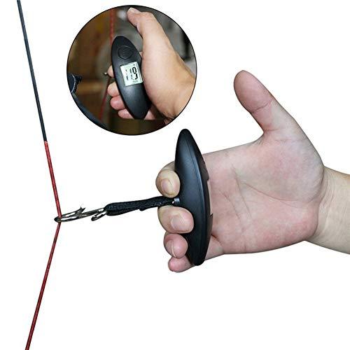 XQxiqi689sy Langlebig Messgerät Spannungrechner Bogenschießen Digital Bogenwaage für Compound Recurve Werkzeug, schwarz