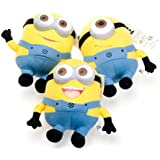 "9"" Despicable Me'' 3D Deluxe Plush Stuffed Doll Soft Toy Figure Minion Dave/Jorge/Stewart collectible Set of 3"