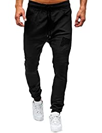 Pantalon Cargo avec Cordon de Serrage Homme, Yanhoo® Hiver Automne Pantalons  Casual Jogging Skinny 12720682377