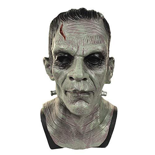Frankenstein Kostüm Leicht - MASCARELLO Frankenstein Monster Maske Latex Ganzkopf Boris Karloff Kostüme Horror Cosplay Ganzkopf Kostüm
