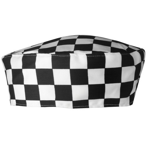 Black Chefs Hosen (Chef's Skull Cap COLOUR Black/White Check ONE SIZE)