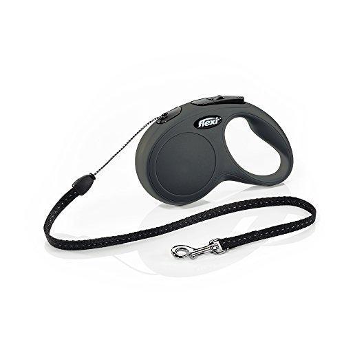 flexi Roll-Leine New Classic S Seil 5 m schwarz für Hunde bis max. 12 kg