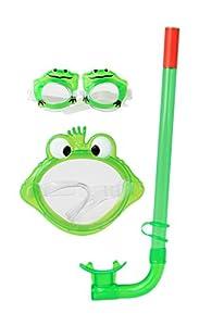 Atosa 13593-Buceo Máscara y Snorkel, Color Verde