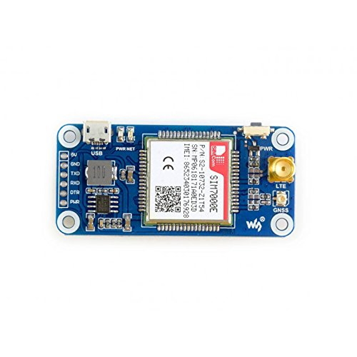 Waveshare Raspberry Pi NB-IoT/eMTC/Edge/GPRS/GNSS Hat Module Based on SIM7000E Supports TCP, UDP, PPP, HTTP, FTP, MQTT, SMS, Mail,GNSS Position for Pi Zero/Zero W/Zero WH/2B/3B/3B+