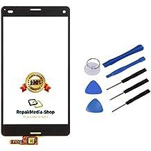 Sony Xperia Z3Compact Mini Pantalla Táctil Lens LCD Pantalla de Cristal Digitalizador Scheibe Lens Glass Negro + 12–Juego de herramientas