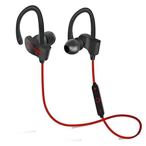 d27359149ed 77% OFF on Jogger QC-10 Bluetooth Earphone Wireless Headphones for Mobile  Phone Sports Stereo Jogger,Running,Gyming Bluetooth Headset (Black-Red) on  Amazon ...