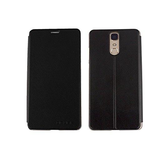 Guran® PU Leder Tasche Etui für Doogee Y6 Max Smartphone Flip Cover Stand Hülle Case-schwarz