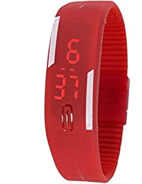 Meher Collection Stylish Red Led Band Stylish Led Band Watch - For Men & Women