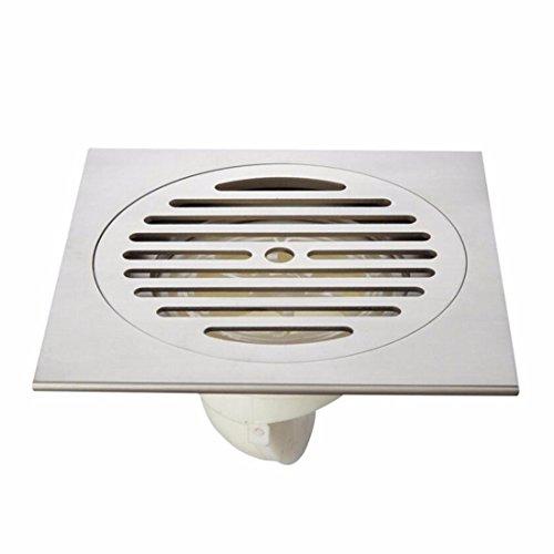 SJQKA drain de plancher 15 * 15 Cm En Cuivre Super Grand Déplacement Étage Machine À Laver Des Toilettes Un Balcon Salle De Bains,B
