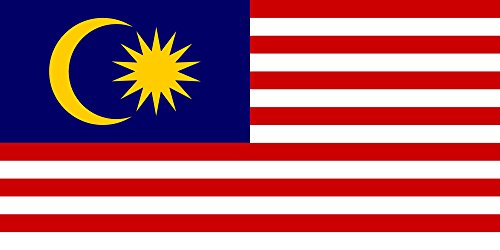 magFlags Flagge: XXL+ Malaysia | Querformat Fahne | 3.75m² | 140x280cm » Fahne 100% Made in Germany