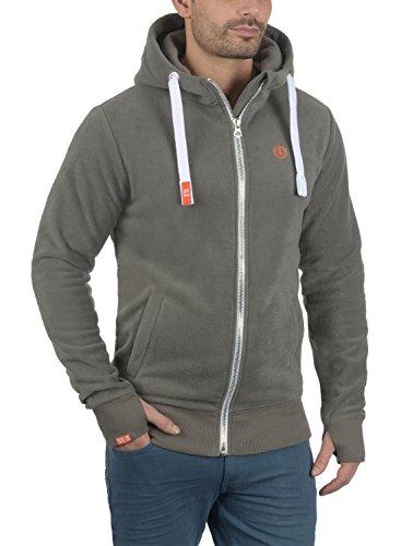 !Solid Loki Herren Fleecejacke Sweatjacke Jacke Mit Kapuze Und Daumenlöcher, Größe:S, Farbe:Mid Grey (2842) - 2
