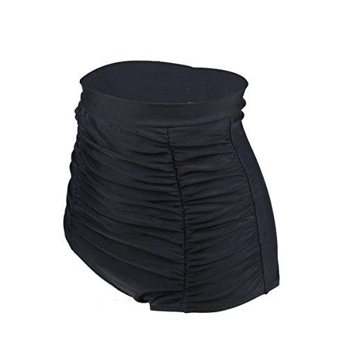 Gigileer Elegante / Figurumspielende / Minimizer Bikini Hose / High Waist Bikinihose / Slip Schwarz M -