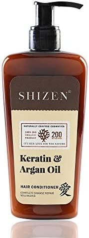 SHIZEN Keratin & Argan Oil Hair Conditioner / nature of love / smooth hair / tangle free / 200ml/ 100% Org