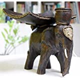 XX&GXM Hölzerne Obst Schüssel kontinentalen kreative Wohnzimmer Elefanten zurück Hauptdekoration Ornamente