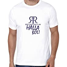 Crazy Sutra Premium Dry-FIT Polyester Unisex Half Sleeve Casual Printed IPL #Halla BOL Rajasthan Royal Tshirt (T-#HallaBol_M)