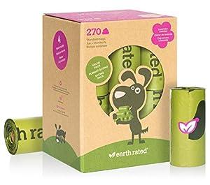 perro: Earth Rated - Pack de bolsas para recoger excrementos de perro,  Olor a Lavanda ...