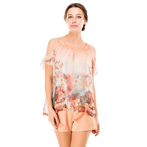 Sommer Pyjama/ Heimservice Damen kurze Ärmel Shorts/ Drucken/ sexy Dessous/Pyjamas B