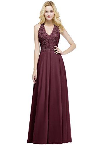Damen Elegant Chiffon Abiballkleider Lang A Linie Abendkleid Ballkleid Cocktailkleid Partykleid...