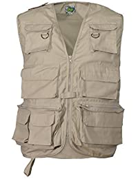Adults Multipocket Fishing Vest Beige Xxl