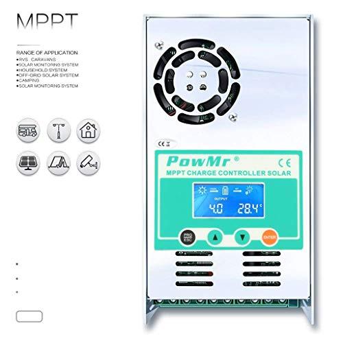 Solarladeregler, MPPT 30A-60A Laderegler 48V 36V 24V 12V Auto Max 190VDC Eingang Solarregler-60A