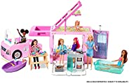 Barbie 3-in-1 DreamCamper Vehicle with Pool, Truck, Boat and 50 Accessories GHL93