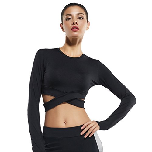Fanceey Women Fitness Exercise Yoga Shirt Sports Running Beauty Crop Top Sportswear